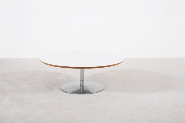 pierre paulin artifort table basse blanc acier vintage 1960